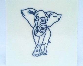 Handmade Ceramic Elephant Tile, Porcelain Tile, Decorative Tile, Art Tile, Accent Tile, Cruelty Free, Animal Art, Vegan Art, ElephantArt