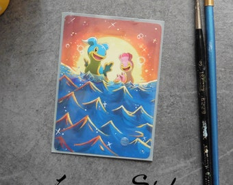 Pokemon Shellos painted card