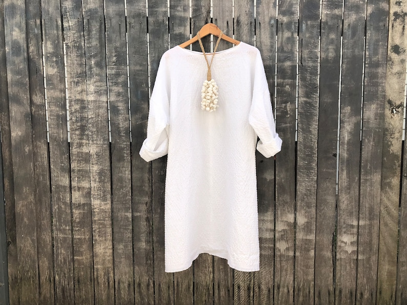 White 100% Cotton Caroline Dress one size fits most  6e9e61285