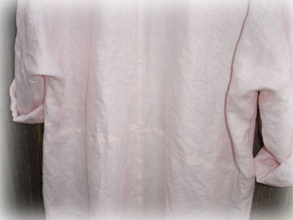 094f9d90b86 Pale Pink Linen Dress one size fits most natural fabric