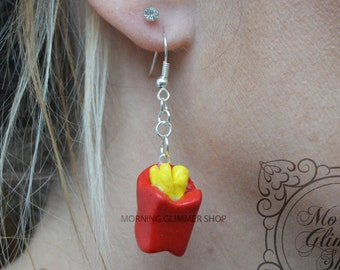 French Fry Fries Polymer Clay Earrings