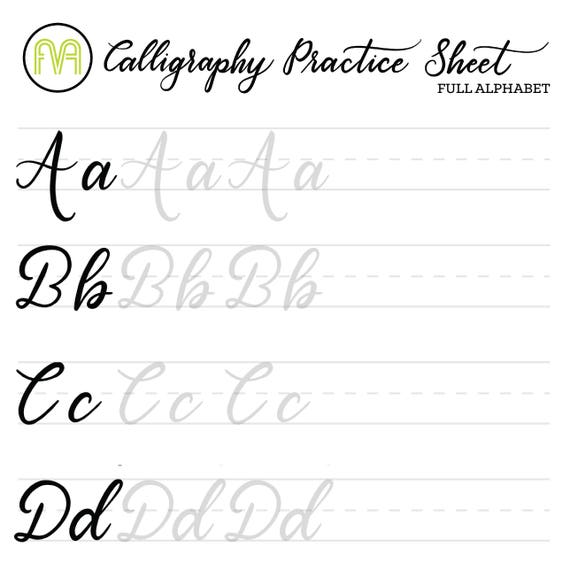 It's just a picture of Calligraphy Practice Sheets Printable intended for modern