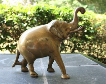 Vintage Brass Elephant Made in India