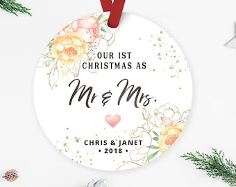 first christmas married mr and mrs ornament newly married ornament wedding gift wedding gift custom wedding gift new couple gift