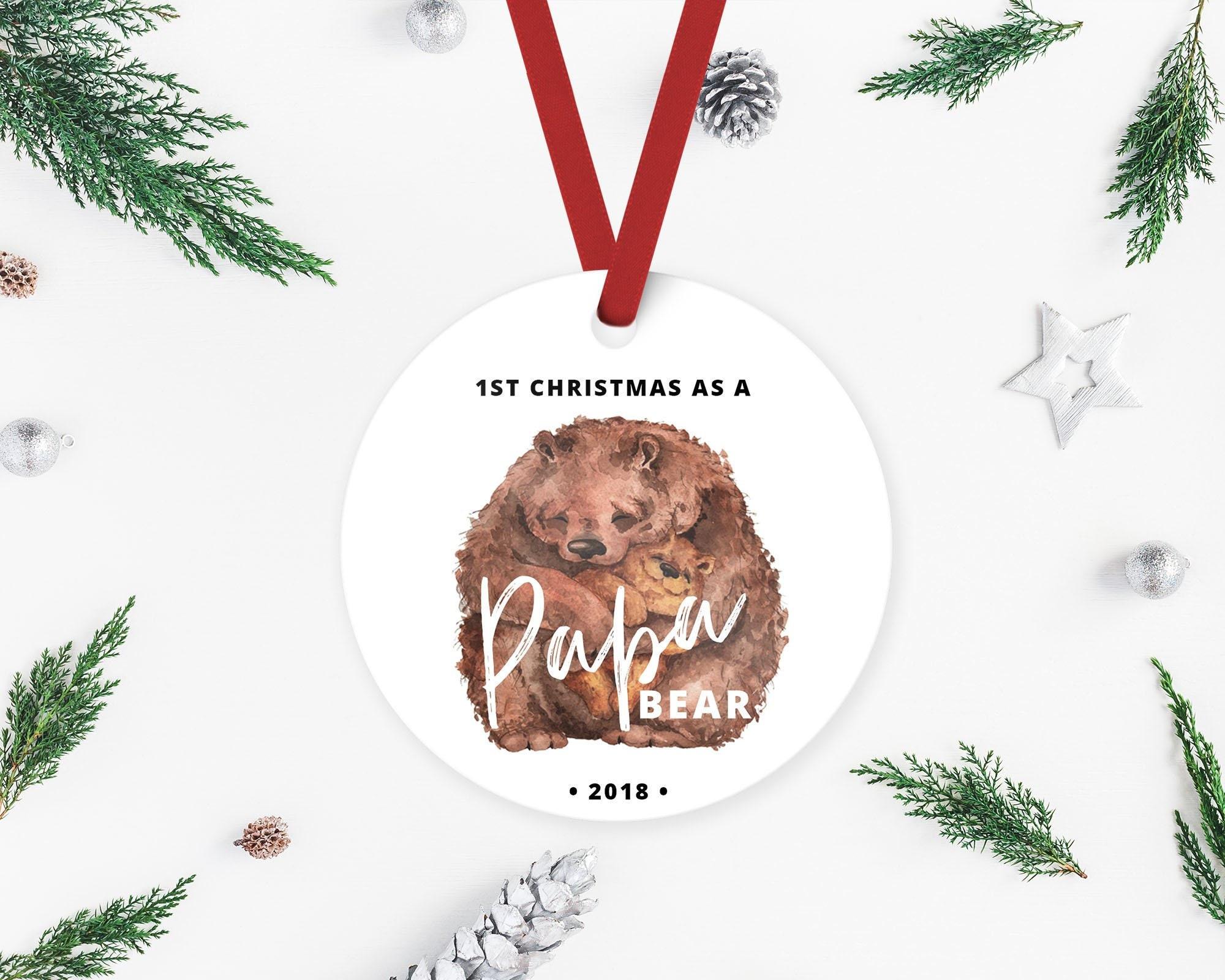 First Christmas as a Papa Bear Papa Bear Gift New Father   Etsy