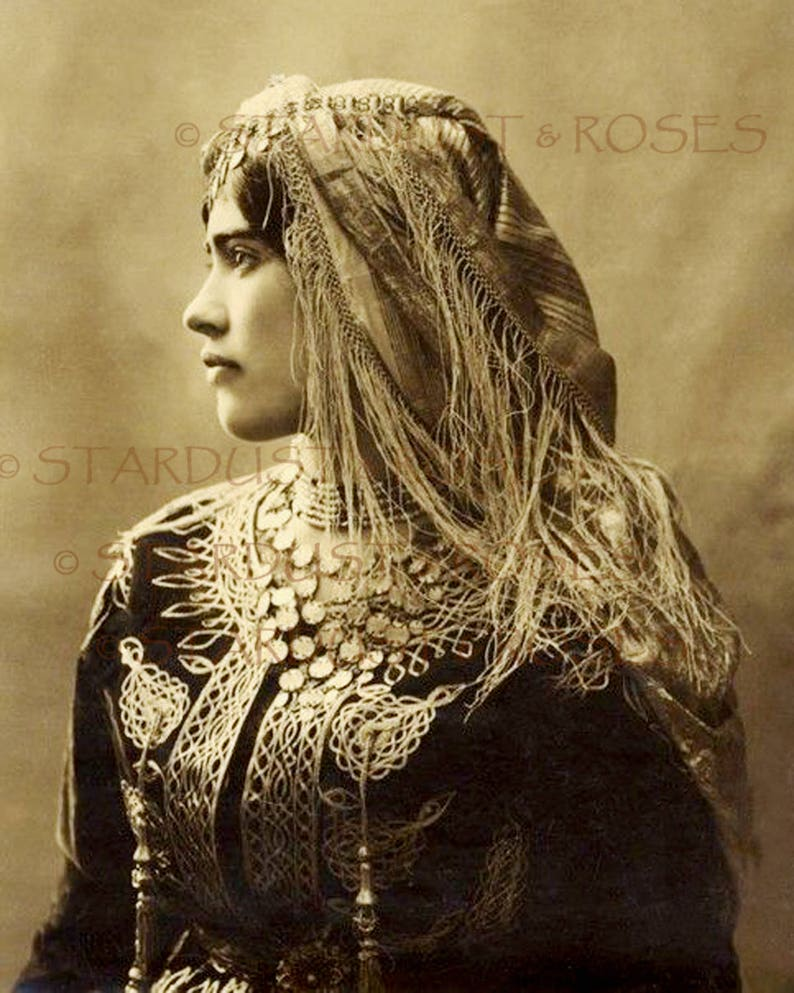Antique Beautiful Woman Sepia Photo Instant Digital Download Etsy