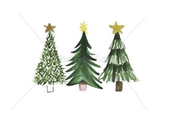 Christmas Tree Trio Iron On Ready To Press Transfer
