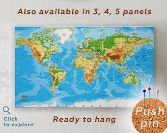 World map push pin | Etsy