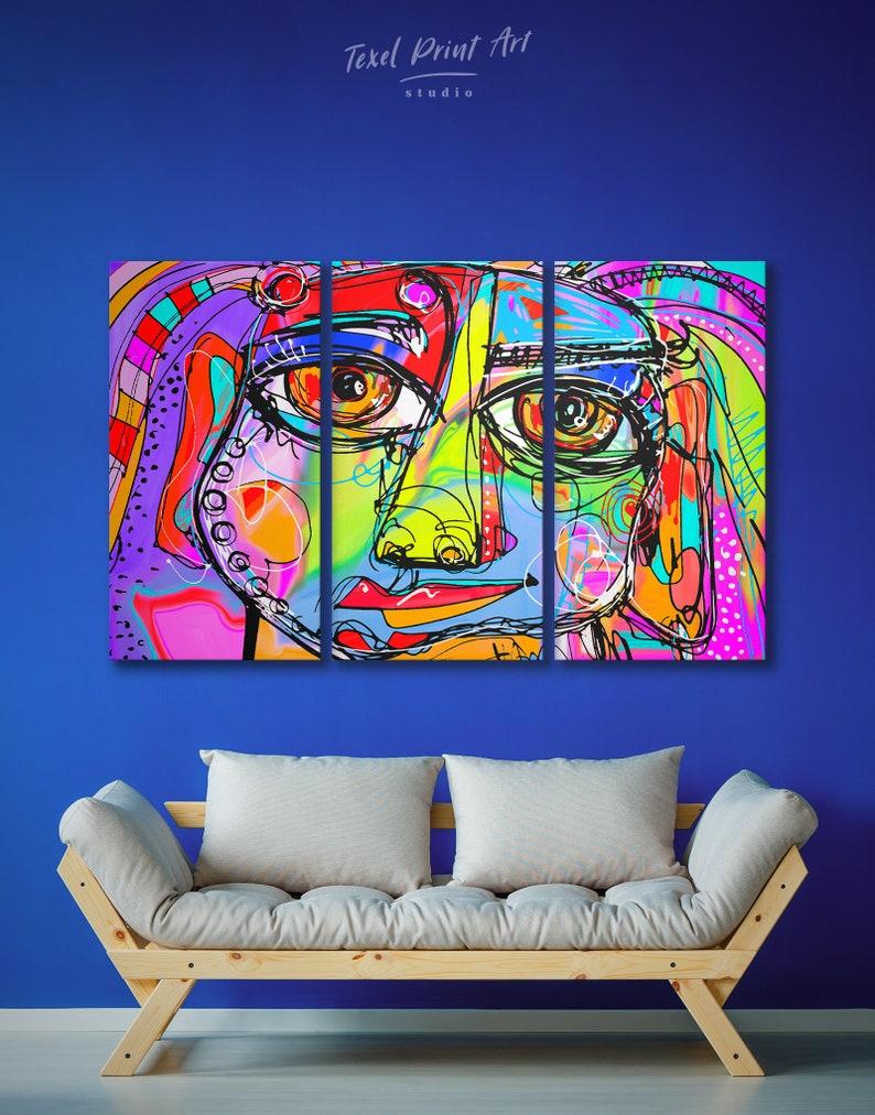 Weird face Canvas  print wall art Home Decore