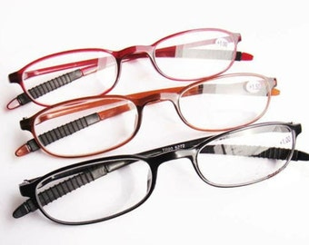 Oval TR90 Frame reading glasses eyeglass Reader with case FAST SHIP CA