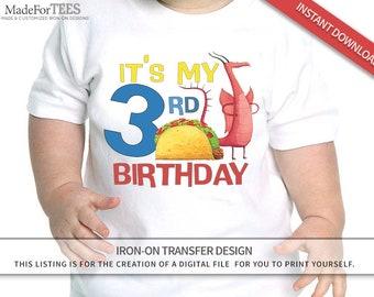 86063e62 Dragon Loves Tacos // Iron on Transfer Shirt Printable // DIGITAL FILE ONLY