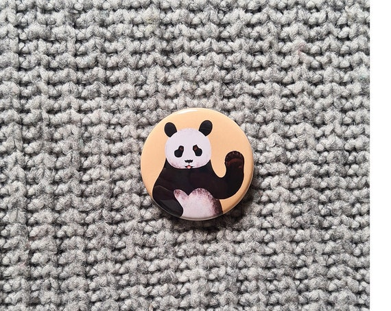 Panda 38mm Button Badge, Pin Badge, Badge, Button Badge, Panda, Panda Pin badge, Panda Badge, Panda Button Badge