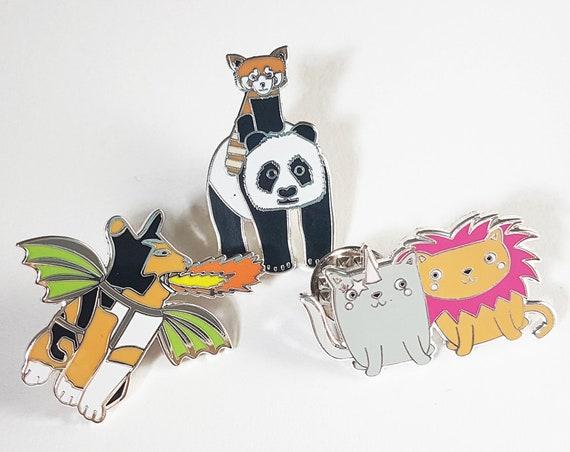 Discounted Defective Enamel Pin badge, Pin Badge, Panda Pin Badge, Cat Pin Badge, Half Price