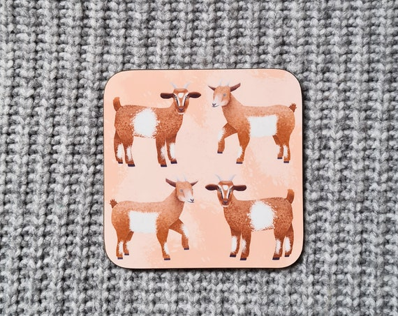Goat Coaster, Coaster, Drinks Coaster, Gifts for him, Gifts for her, Birthday Present, House Warming Present, Animal Coasters, Goat