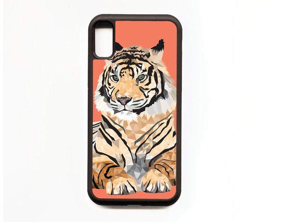 Tiger Phone Case, Tiger iphone Case, Illustration, Animal Phone Case, Rubber Phone Case, Plastic Phone Case
