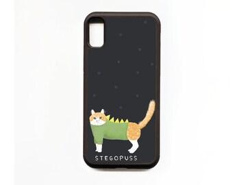 Cat Phone Case, Stegopuss, Cat iphone Case, Illustration, Animal Phone Case, Rubber Phone Case, Plastic Phone Case