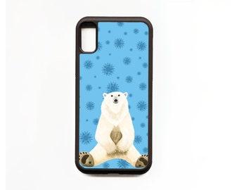 Polar Bear Phone Case, Polar Bear iphone Case, Animal Phone Case, Rubber Phone Case