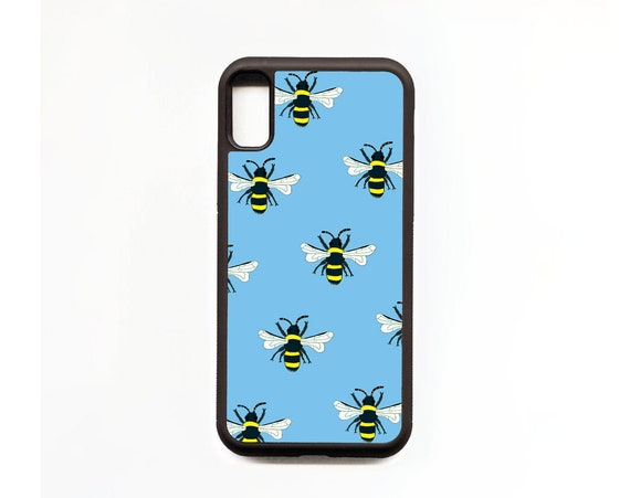 Bee Phone Case, Bee iphone Case, Illustration, Animal Phone Case, Rubber Phone Case, Plastic Phone Case