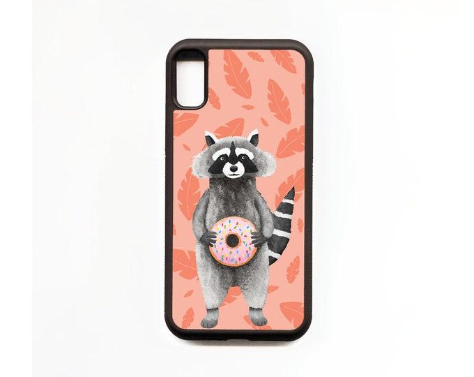 Raccoon Phone Case, Raccoon iphone Case, Animal Phone Case, Rubber Phone Case