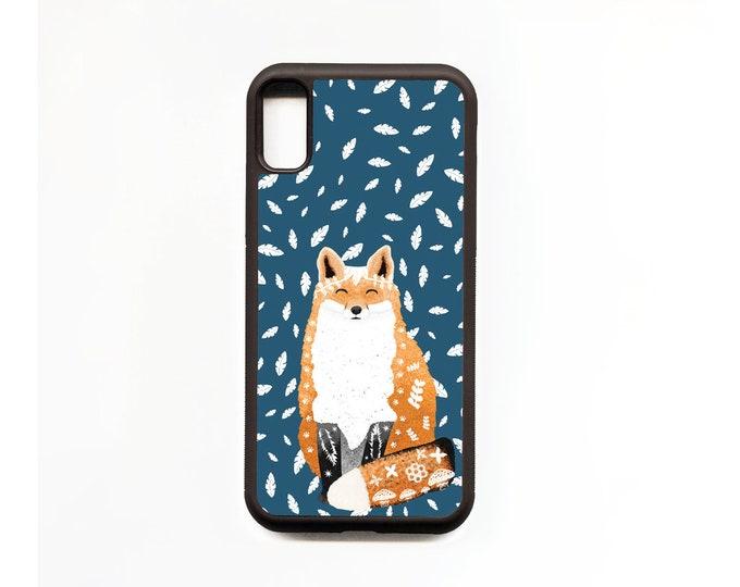 Fox Phone Case, Fox iphone Case, Animal Phone Case, Rubber Phone Case