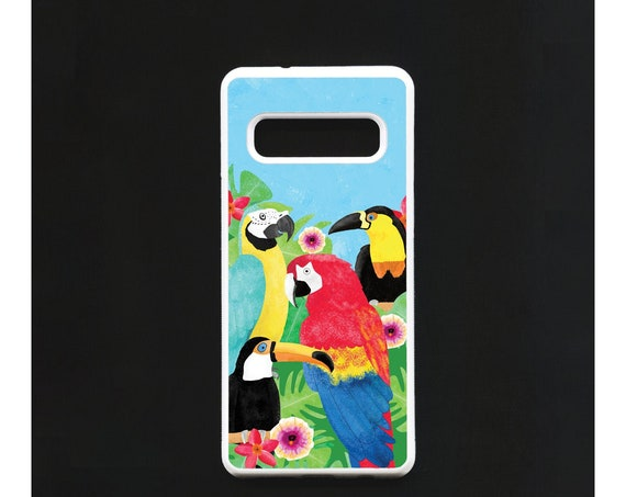 Parrot Phone Case, Parrot Samsung phone Case, Illustration, Animal Phone Case, Rubber Phone Case, Plastic Phone Case