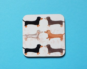 Dachshund Coaster, Coaster, Drinks Coaster, Gifts for him, Gifts for her, Birthday Present, House Warming Present, Animal Coasters, Dog