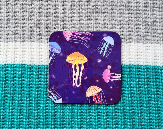 Jellyfish Coaster, Coaster, Drinks Coaster, Gifts for him, Gifts for her, Birthday Present, House Warming Present, Animal Coasters
