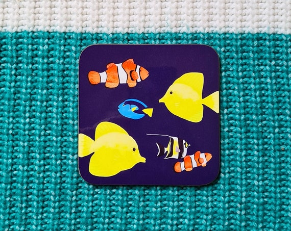 Tropical Fish Coaster, Coaster, Drinks Coaster, Gifts for him, Gifts for her, Birthday Present, House Warming Present, Animal Coasters, Fish