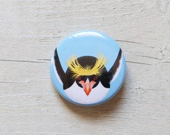 Macaroni Penguin 38mm Button Badge, Pin Badge, Badge, Button Badge, Macaroni Penguin, Penguin Pin badge, Penguin Badge, Penguin Button Badge