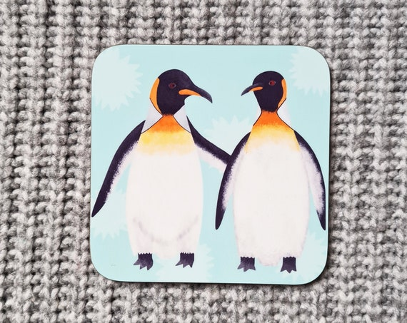 King Penguin Coaster, Coaster, Drinks Coaster, Gifts for him, Gifts for her, Birthday Present, House Warming Present, Animal Coasters