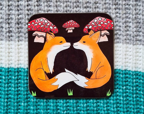 Fox Coaster, Coaster, Drinks Coaster, Gifts for him, Gifts for her, Birthday Present, House Warming Present, Animal Coasters, Fox