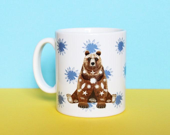 Grizzly Bear Mug, Ceramic Mug, Bear Mug, Mug, Coffee Mug, Tea Mug, Grizzly Bear Gifts