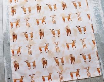 Goat Tea Towel, Animal Tea Towel, Tea Towel, Organic Cotton Tea Towel