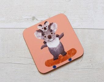 Koala Coaster, Coaster, Drinks Coaster, Gifts for him, Gifts for her, Birthday Present, House Warming Present, Animal Coaster, Koala