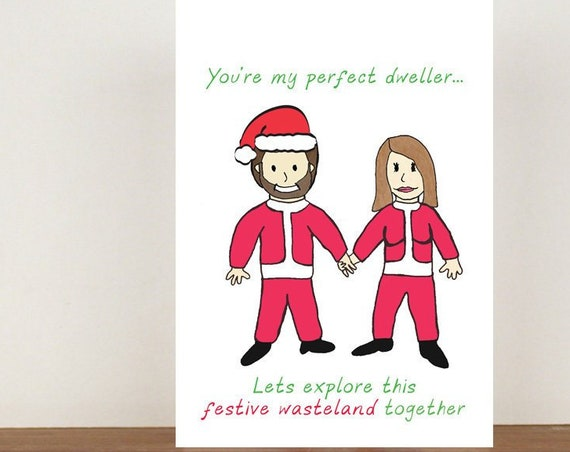 You're my perfect dweller card, cards, love cards, blank card, cute cards, christmas, christmas card