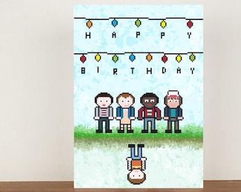 Stranger Things Birthday Card , Birthday Card, Cards, Greeting Cards, Birthday, Stranger Things Card
