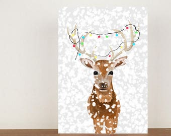 deer christmas card deer cards greeting cards christmas card deer stag christmas card christmas - Deer Christmas Cards