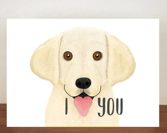 I Heart You Anniversary Card, Cards, Greeting Cards, Love, Valentines Card, Dog card, Love Card, Dogs, Dog Love Card, Labrador