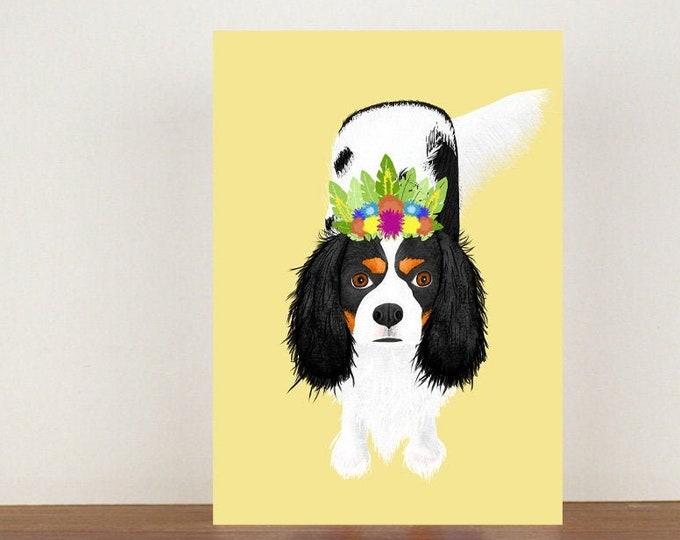 Cavalier King Charles Spaniel Greeting Card, Card, Greeting Card, Birthday Card, Dog Card, Dog Birthday Card, Thank You Card, Spaniel Card