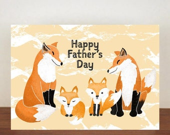 Fox Happy Fathers Day Card, Greeting Card, Animal Card, Fathers Day Card, Fathers Day, Fox, Fox Card