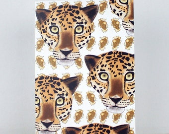 Leopard Greetings Card, Mothers Day Card, Thank You Card, Leopard Card