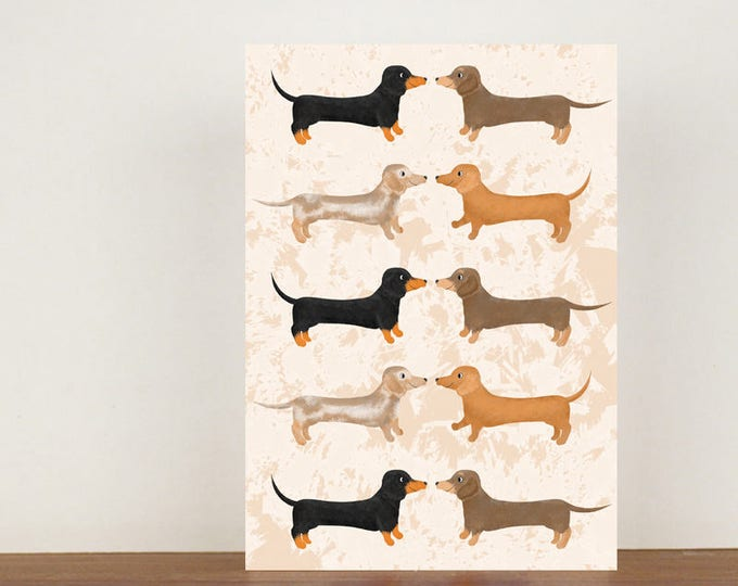Sausage Dog Greeting Card, Card, Greeting Card, Birthday Card, Dog Card, Dachshund Card, Dachshund Birthday Card, Thank You Card