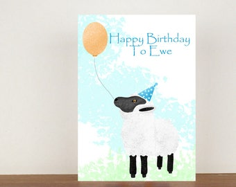 Sheep Birthday Card Etsy