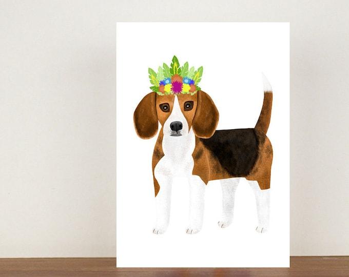 Beagle Greeting Card, Card, Greeting Card, Birthday Card, Dog Card, Beagle Card, Beagle Birthday Card, Thank You Card