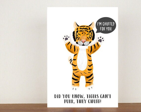 I'm Chuffed For You, Card, Congratulations Card, Congratulations, Card, New Job, New Job Card, Tiger, Tiger Card