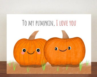 To My Pumpkin I Love You Anniversary Card, Greeting Cards, Love, Valentines Card, Happy Valentines Day, Love Card
