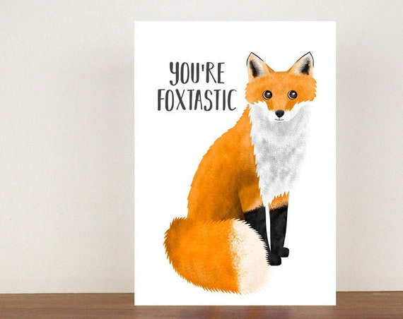 You're Foxtastic Card, Congratulations Card, Congratulations, Card, Fox, Fox Card, New Job, New Job Card, You're Fantastic Card