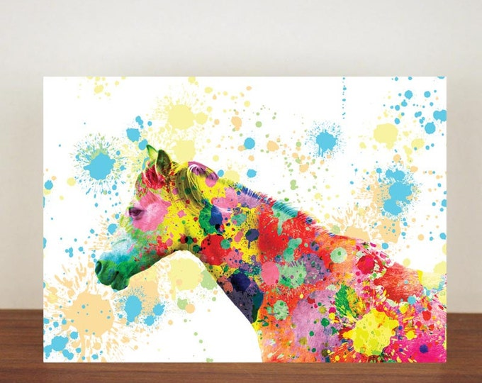 Horse greeting card, cards, greeting cards, blank card, any occasion card, horse, art, artistic card, horse card