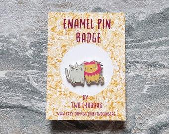 Cats Enamel Pin Badge, Limited Hard Enamel Silver Plated Pin badge, Pin Badge, Cat Pin Badge, Cat Enamel Pin Badge, Cats
