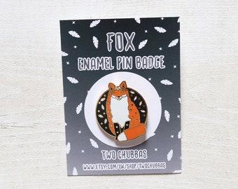 Fox Enamel Pin Badge, Limited Hard Enamel Gold Plated Pin badge, Pin Badge, Fox Pin Badge, Fox Enamel Pin Badge, Fox
